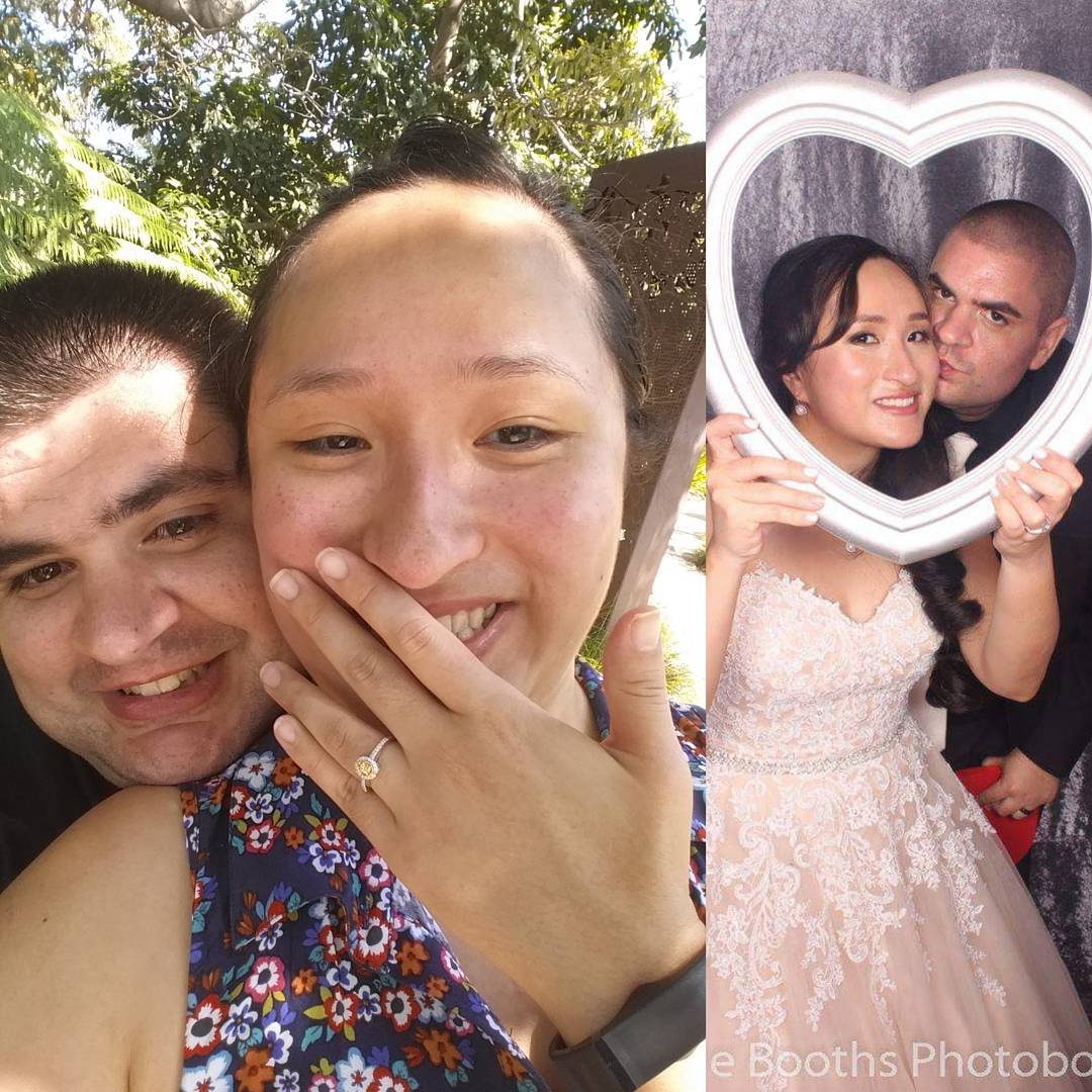 Engagement vs Wedding Day (56kgs – 123lbs Difference)